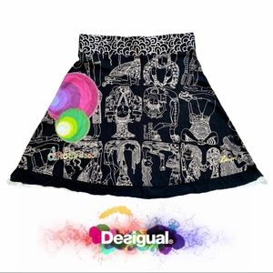 Desigual A-Line Dream Knee Legnth Skirt